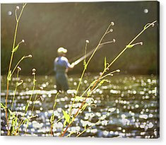 Fly Fishing Acrylic Print by JAMART Photography