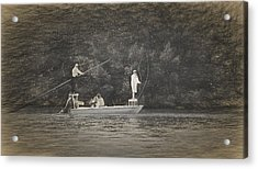 Fly Fishing On Conch Key Acrylic Print by Ginger Wakem