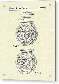 Fly Fishing Reel 1976 Patent Art Acrylic Print