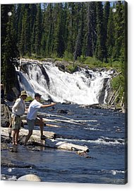 Fly Fishing The Lewis River Acrylic Print by Marty Koch