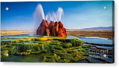 Fly Geyser Panorama Acrylic Print by Inge Johnsson