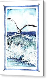 Acrylic Print featuring the painting Fly High by Heidi Kriel