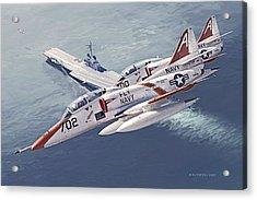 Fly Navy Acrylic Print