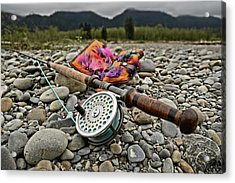 Fly Rod And Streamers Landscape Acrylic Print