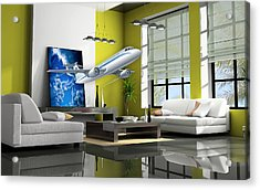 Fly The Friendly Skies Art Acrylic Print by Marvin Blaine