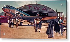 Fly Twa The Lindberg Line By Henry Bosis Acrylic Print