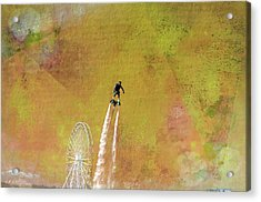 Flyboard, Sketchy And Painterly Acrylic Print