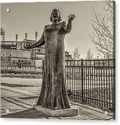 Flyer Good Luck Charm - Kate Smith In Sepia Acrylic Print