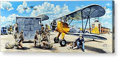 Flyers In The Heartland Acrylic Print by Charles Taylor