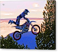Flying 4 Just Hangin On Acrylic Print by Lawrence Christopher