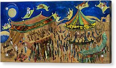 Flying Carpets Acrylic Print by Ione Citrin