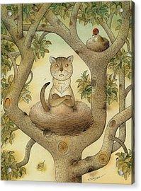 Flying Cat Acrylic Print by Kestutis Kasparavicius