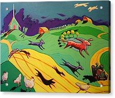 Flying Dog Farm Acrylic Print