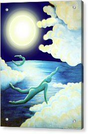 Flying Dream 2 Acrylic Print by Barbara Stirrup