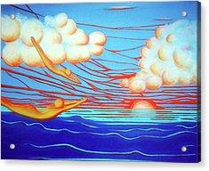 Flying Dream 3 Acrylic Print by Barbara Stirrup