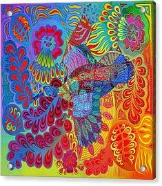 Flying Duck Acrylic Print by Jane Tattersfield