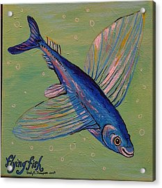 Flying Fish Acrylic Print by Emily Reynolds Thompson