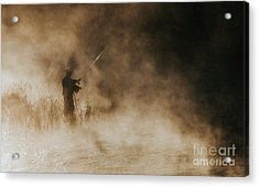 Acrylic Print featuring the photograph Flying Fishing by Iris Greenwell