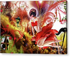 Flying Flower.. Eve Acrylic Print by Prar Kulasekara