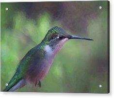 Flying Flower Acrylic Print
