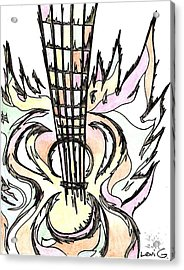 Flying Guitar  Acrylic Print by Levi Glassrock