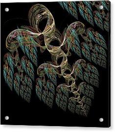 Flying Hearts Acrylic Print