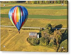 Flying Hight Over New York State Acrylic Print