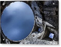 Acrylic Print featuring the photograph Flying In A Spaceship Concrete by Edgar Laureano