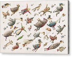 Flying Acrylic Print by Kestutis Kasparavicius