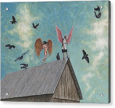 Flying Lessons Acrylic Print by Holly Wood