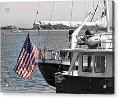 Flying Our Stars And Stripes Acrylic Print