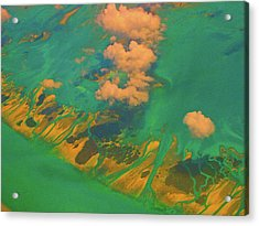 Flying Over The Keys, Florida Acrylic Print