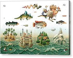Flying Over The Sea Acrylic Print by Kestutis Kasparavicius