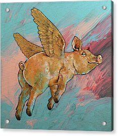 Flying Pig Acrylic Print