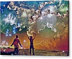 Flying Pigs Acrylic Print