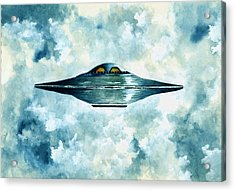 Flying Saucer Acrylic Print by Michael Vigliotti