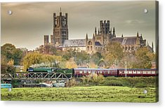 Acrylic Print featuring the photograph Flying Scotsman At Ely by James Billings