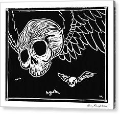 Flying Skulls Acrylic Print