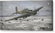 Flying Tank Acrylic Print by Robert Perry