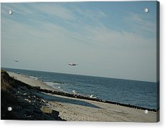 Flying The Beach Acrylic Print by See Me Beautiful Photography