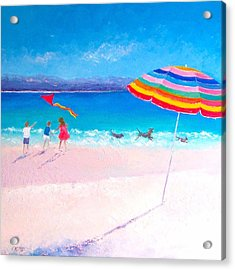 Flying The Kite Acrylic Print by Jan Matson