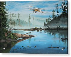 Flying The Mail Acrylic Print by Kenneth Young