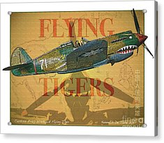 Flying Tigers Acrylic Print by Kenneth De Tore