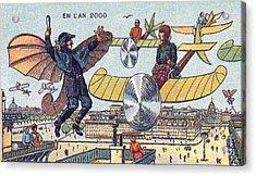 Flying Traffic Control, 1900s French Acrylic Print