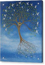 Flying Tree Acrylic Print by Tone Aanderaa