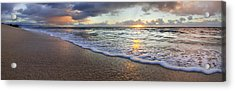 Foam Sunset Acrylic Print by Sean Davey
