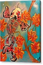 Focus Flower  Acrylic Print by Miriam Moran