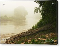 Acrylic Print featuring the photograph Fog Along The Red by Steve Augustin
