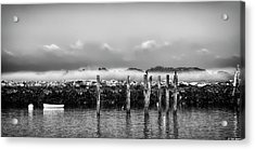 Fog Beyond The Breakwater Acrylic Print