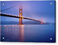 Fog City Bridge Acrylic Print